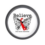 Believe Oral Cancer Wall Clock