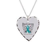 Believe Ovarian Cancer Necklace