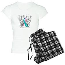 Believe Thyroid Cancer Pajamas