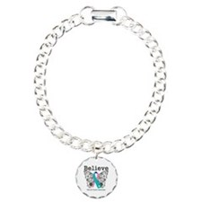 Believe Thyroid Cancer Charm Bracelet, One Charm