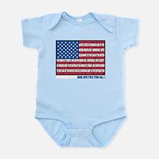 Pledge of Allegiance Infant Creeper