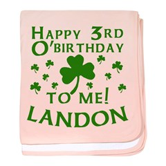 LANDON Personalized baby blanket