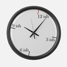 Fashionable Late Large Wall Clock