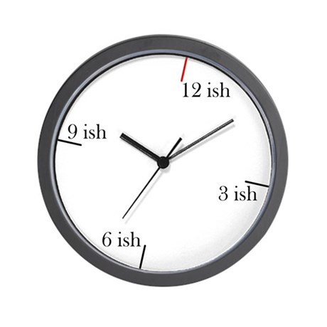Fashionable Late Wall Clock