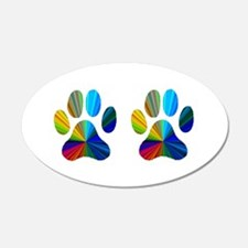 2 PAWS 22x14 Oval Wall Peel