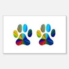 2 PAWS Decal