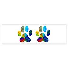 2 PAWS Bumper Sticker
