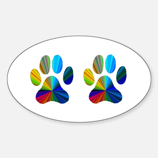 2 PAWS Sticker (Oval)