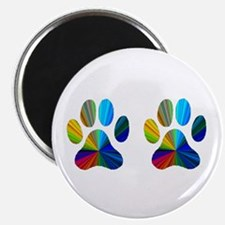 """2 PAWS 2.25"""" Magnet (100 pack)"""