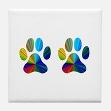 2 PAWS Tile Coaster
