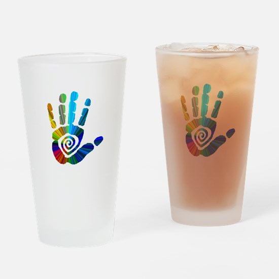 Massage Hand Drinking Glass