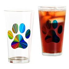 Cute Paw prints Drinking Glass