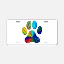 Cool Dog pawprints Aluminum License Plate