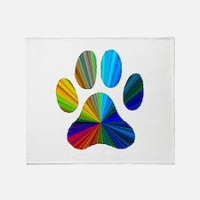 Unique Pawprint Throw Blanket