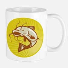 Catfish Jumping Retro Mug