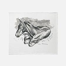 Foal Throw Blanket
