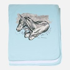 Foal baby blanket