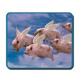 Flying pig Mouse Pads