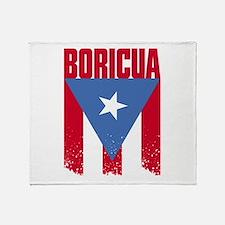 Boricua Flag Throw Blanket