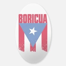Boricua Flag Sticker (Oval)