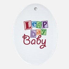 Leap Day Baby Ornament (Oval)