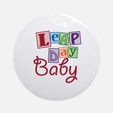 Leap Day Baby Ornament (Round)