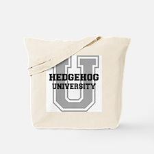 Hedgehog UNIVERSITY Tote Bag