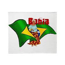 Bahia Brazil Flag Throw Blanket