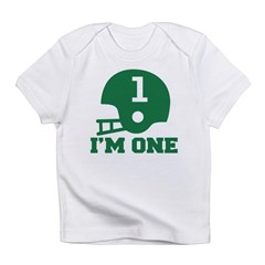Cute 1st Birthday Football Infant T-Shirt