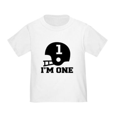 Cute 1st Birthday Football Toddler T-Shirt