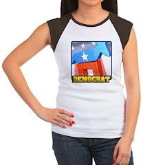 3D Democrat Women's Cap Sleeve T-Shirt