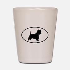 West Highland Terrier Oval Shot Glass