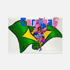 Brazil Carnival Rectangle Magnet