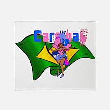 Brazil Carnival Throw Blanket