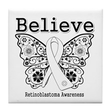 Believe - Retinoblastoma Tile Coaster