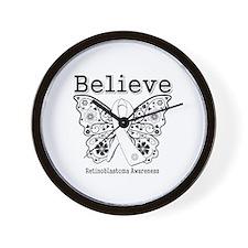 Believe - Retinoblastoma Wall Clock