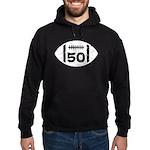 50th Birthday football Hoodie (dark)