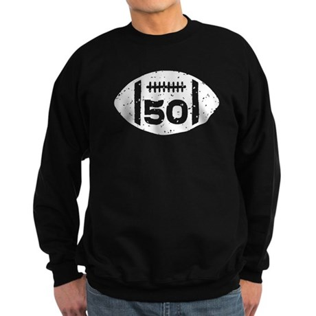 50th Birthday football Sweatshirt (dark)