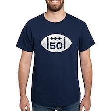 50th Birthday football T-Shirt