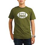 50th Birthday football Organic Men's T-Shirt (dark