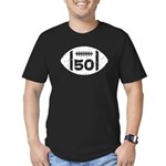 50th Birthday football Men's Fitted T-Shirt (dark)