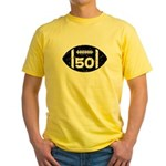 50th Birthday football Yellow T-Shirt