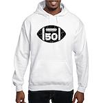 50th Birthday football Hooded Sweatshirt