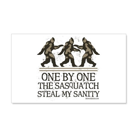 One By One The Sasquatch 22x14 Wall Peel