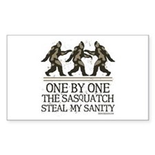 One By One The Sasquatch Decal