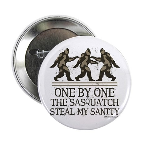 """One By One The Sasquatch 2.25"""" Button"""