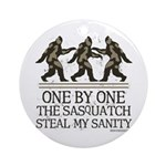 One By One The Sasquatch Ornament (Round)