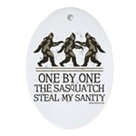 One By One The Sasquatch Ornament (Oval)