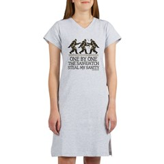 One By One The Sasquatch Women's Nightshirt