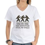 One By One The Sasquatch Women's V-Neck T-Shirt